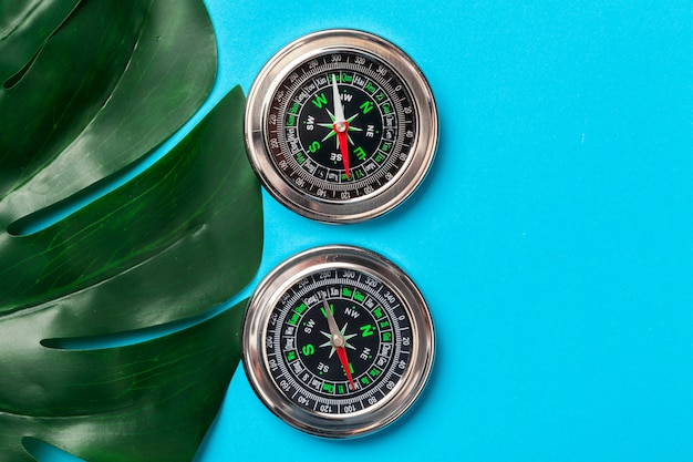 Compass, top view