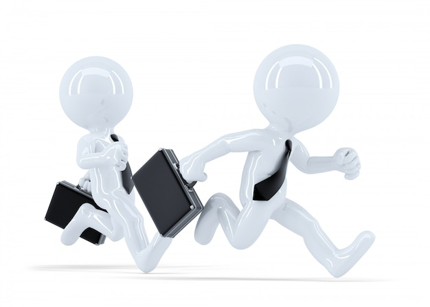 Конкуренция с бегущими бизнесменами. бизнес-концепция