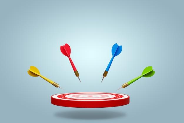 Конкурентное преимущество, стратегическая концепция. 3d иллюстрация