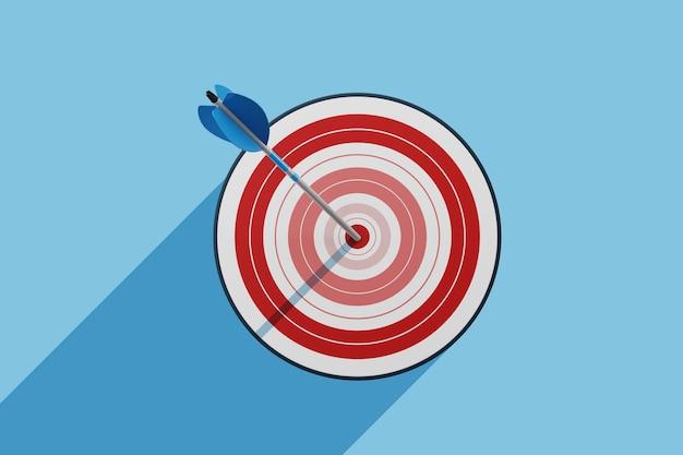Конкурентное преимущество, концепция стратегического маркетинга. 3d иллюстрация