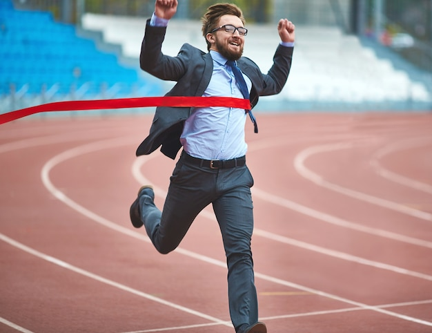 Competitor contemporary employee winner job