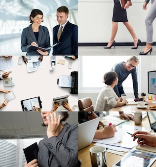 Compilation of corporate business themed images