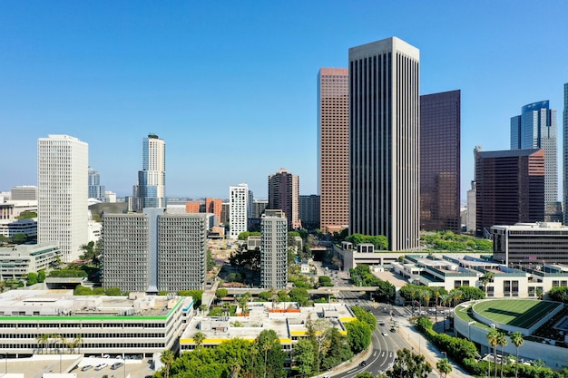 街の複雑な空中写真
