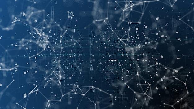 Сложные большие данные и всемирная связь, абстрактная иллюстрация матричного интернета и больших данных