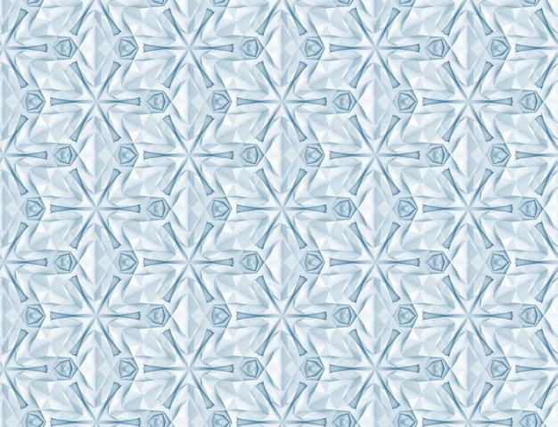 Complex volumetric seamless pattern 3d illustration