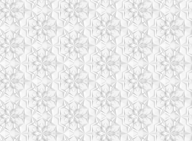 複雑なボリュームのシームレスなパターンの3dイラスト