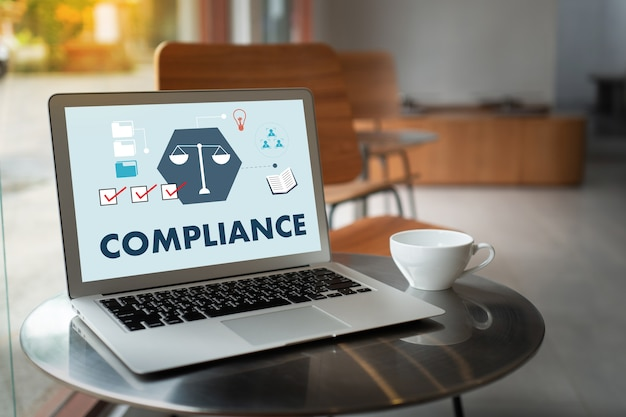Compliance concept with a laptop