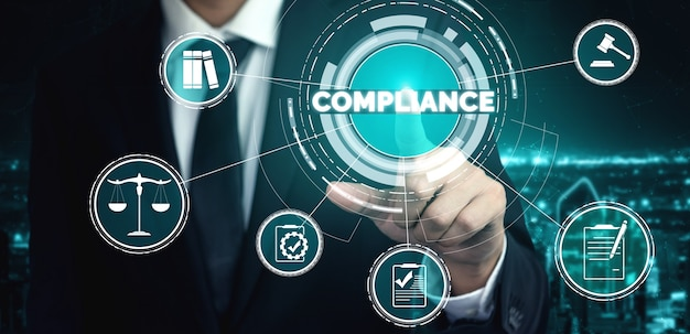 Compliance rule graphic interface for business