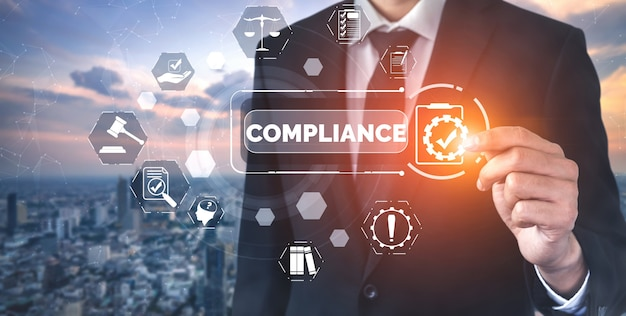 ビジネス品質ポリシーのためのコンプライアンスルール法と規制のグラフィックインターフェイス