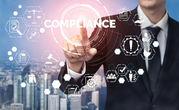 Соответствие нормам законодательства и нормам графический интерфейс для политики качества бизнеса