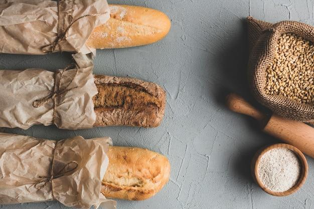 Составные хлебы и зерна