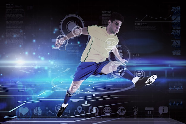 Составное изображение футболиста
