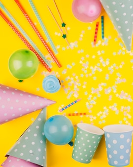 Composition of birthday elements