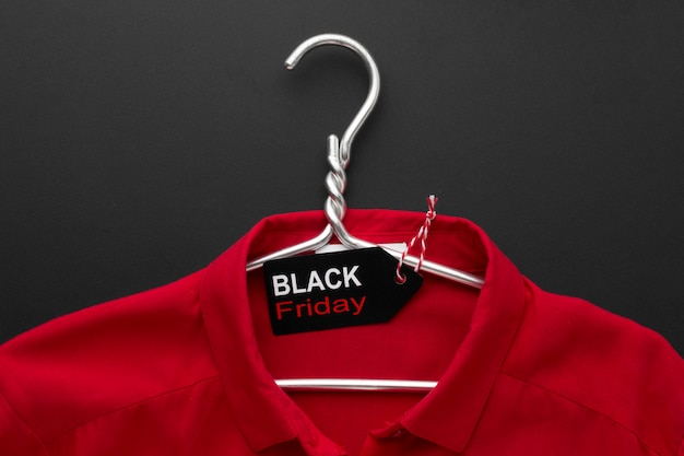 Composition of black friday t-shirt