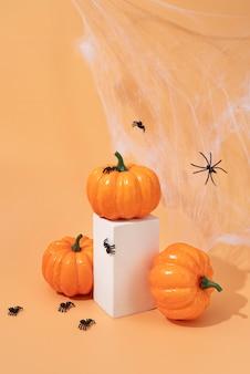Composizione di elementi creativi di halloween