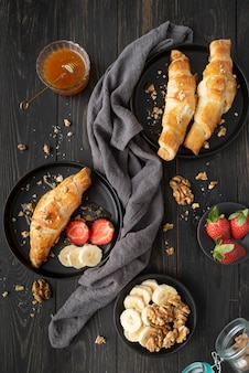 Composition of delicious breakfast meal