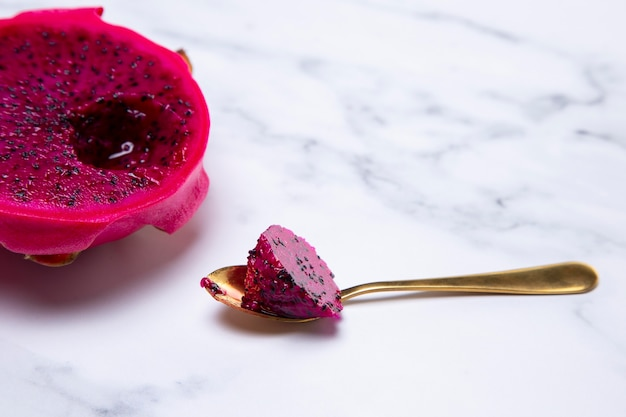 Composition of delicious exotic dragon fruit