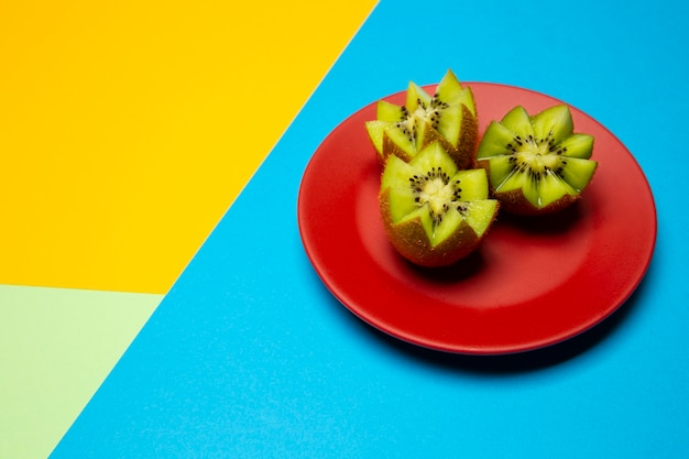 Composition of delicious exotic kiwis