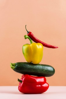 Composition of delicious fresh vegetables