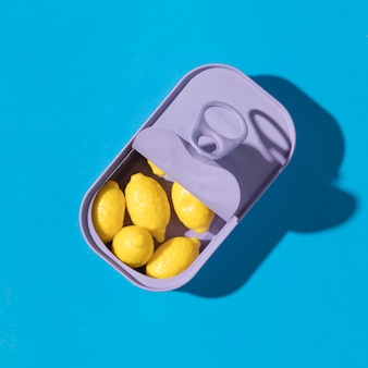 Composition of delicious sweet lemon candies