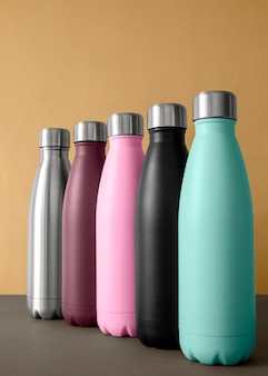 Composition of different colored tumblers