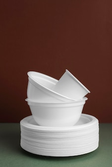 Composition of different eco friendly tableware