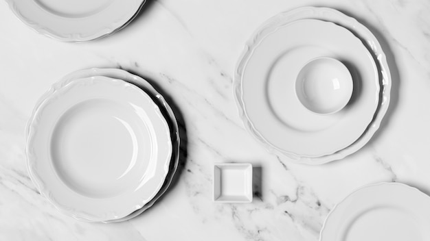 Composition of different sized plates