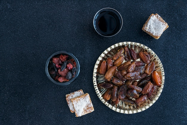 Composition of dry fruits and tasty biscuits