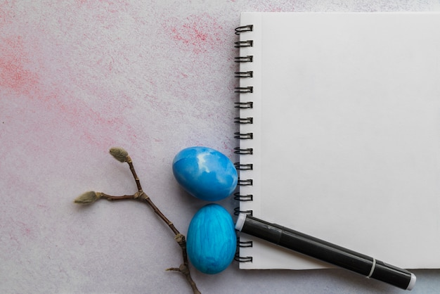 Composition of easter attributes