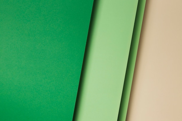 Composition of green paper sheets