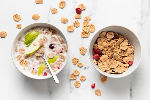 Composition of healthy bowl cereals