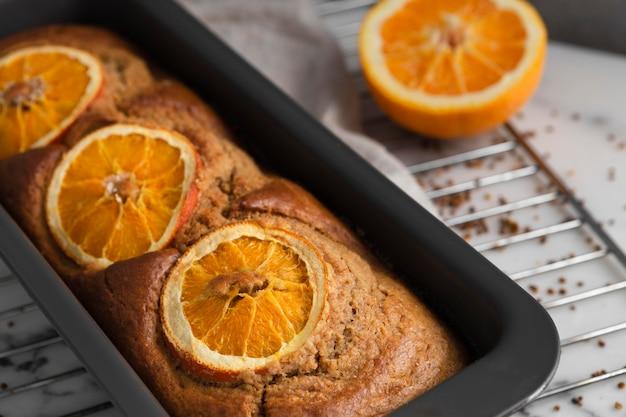 Composizione della ricetta sana con le arance