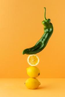Composizione di prelibatezze vegane sane