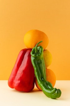 Composizione del cibo vegetariano sano