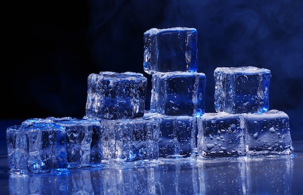 Composition of ice cubes