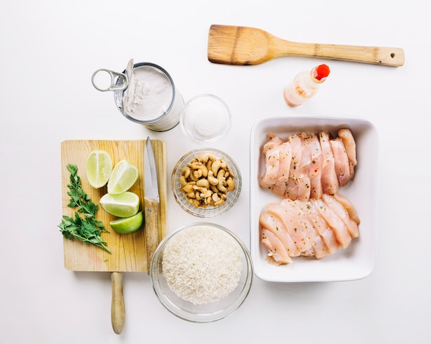 Composition of ingredient for cooking meat