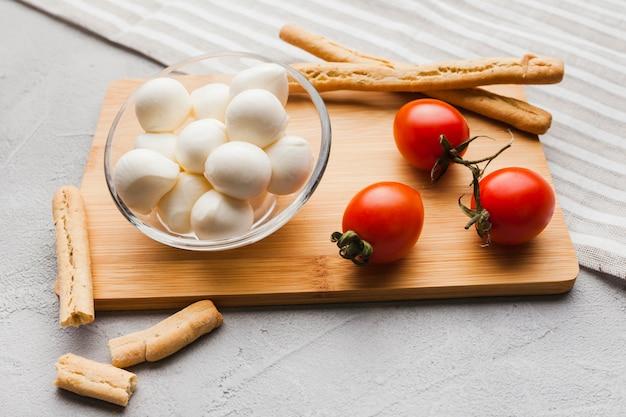 Composition of  mozzarella cheese