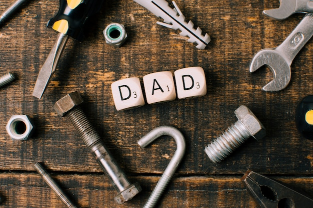 Composition of objects for fathers day