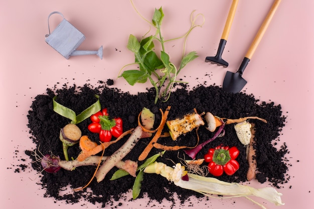 腐った野菜で作った堆肥の組成