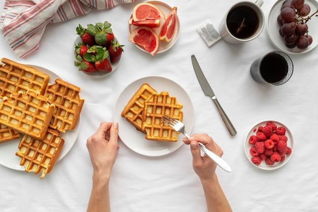 맛있는 아침 식사의 구성
