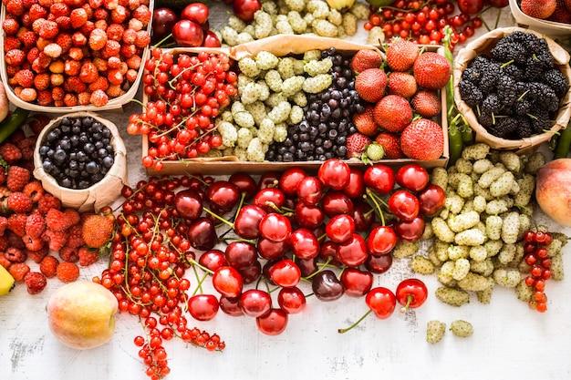 さまざまな果物の組成