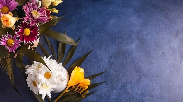 花と熱帯植物の組成