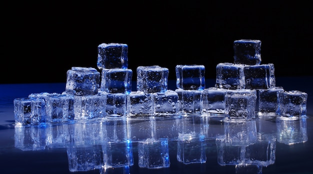 얼음 조각의 구성