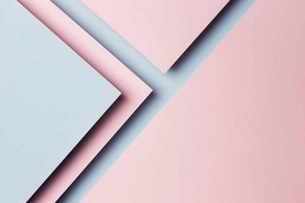 色とりどりの紙シートの背景の構成