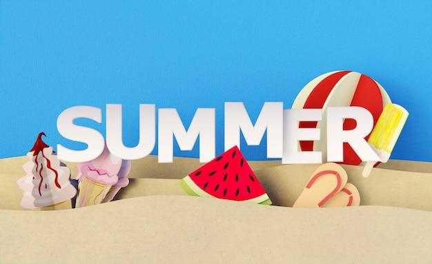 종이 여름 정물 요소의 구성 무료 사진