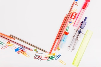 Composition of school stationery