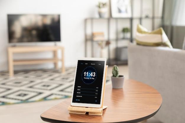홈 오토메이션 앱으로 태블릿 구성