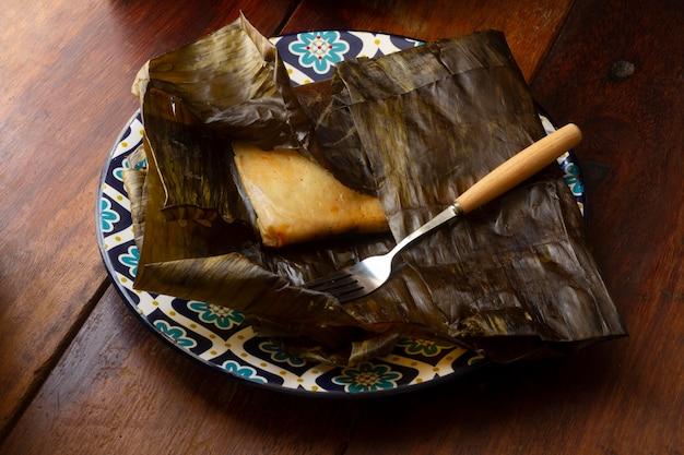 おいしい伝統的なタマーレの構成