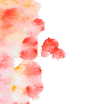 Composition of orange and yellow brush paint paper texture
