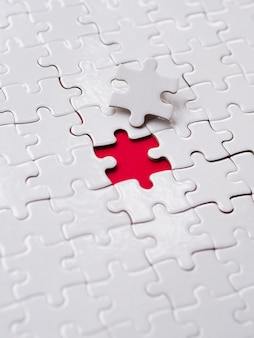 Composition of puzzle pieces for individuality concept